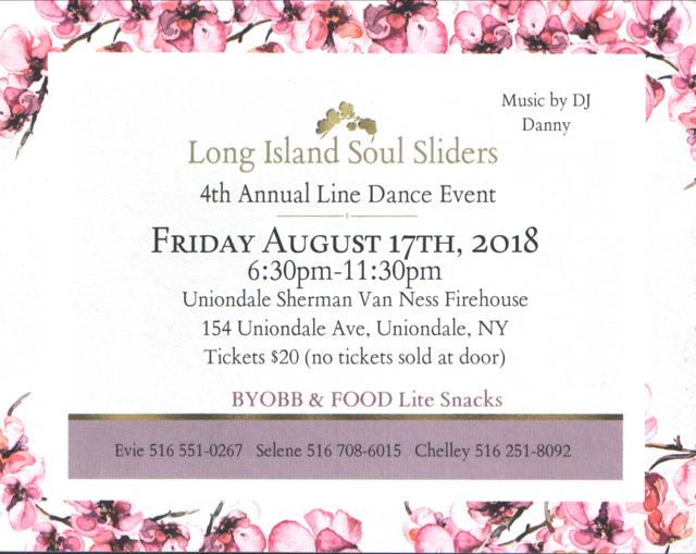 Long Island Soul Sliders  4th Annual Line Dance Event