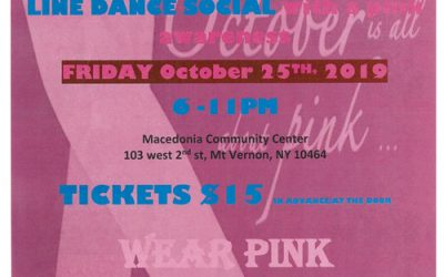 LAST FRIDAY LINE DANCE SOCIAL with a pink awareness