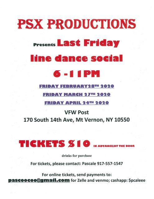 PSX Last Friday Line Dance Social (2020)